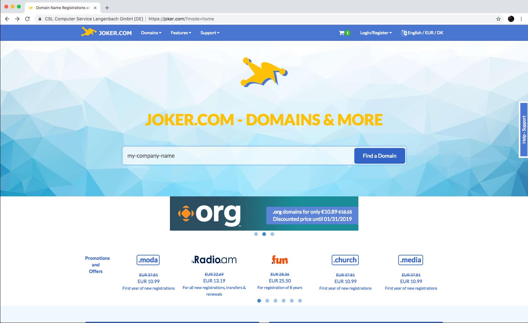 Buy domain for Sitemagic Cloud