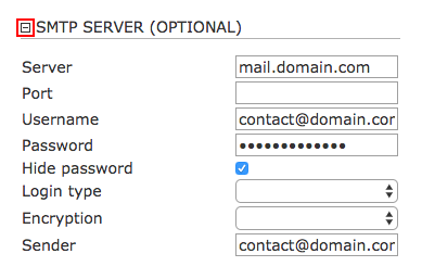 How to configure SMTP for sending e-mails with Sitemagic CMS