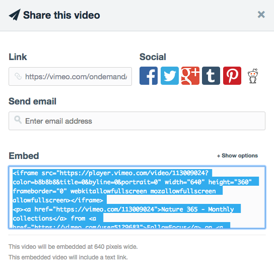 How to integrate Vimeo videos into Sitemagic CMS